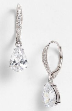 Nadri Cubic Zirconia Teardrop Earrings (Nordstrom Exclusive) available at #Nordstromweddings