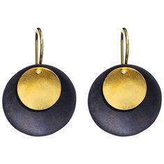 Hissia Gold Sunset Earrings (€145) ❤ liked on Polyvore featuring jewelry, earrings, handcrafted jewellery, gold jewellery, hand crafted jewelry, earrings jewelry and gold earrings jewelry
