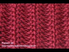 Jerseys stitch- Free Knitting Tutorials - Watch Knitting - pattern 25, My Crafts and DIY Projects