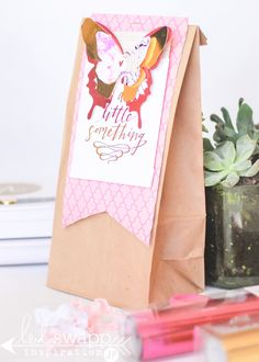 Minc Technique Gift Tag | Heidi Swapp How to layer two foil colors and create your own custom die cut Minc style. @jamiepate