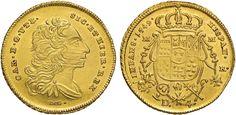 NumisBids: Nomisma Spa Auction 50, Lot 158 : NAPOLI Carlo di Borbone (1734-1759) 4 Ducati 1749 – MIR 332 AU (g...