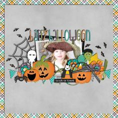 I always have too many Halloween photos for a one pic layout but this would be adorable for a special shot!