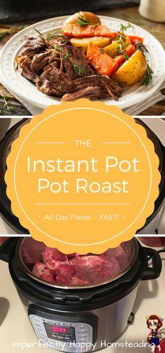 Instant Pot Pressure Cooker Pot Roast  - delicious fall apart flavor!