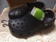 Crocs - Black  - Size 4 (Ladies) - 3 (Mens) UK - New with tags #Crocs