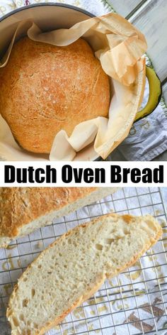 Homemade bread is just 4 simple ingredients away with this easy, no-knead, artisan-style Crusty Dutch Oven Bread. If you haven't considered giving it a try before, get your dutch oven out, and get going! Dutch Oven Bread, Dutch Oven Cooking, Dutch Oven Recipes, Fun Cooking, Bread Recipes, Vegan Recipes, Cooking Recipes, Dutch Ovens, Pastry Recipes