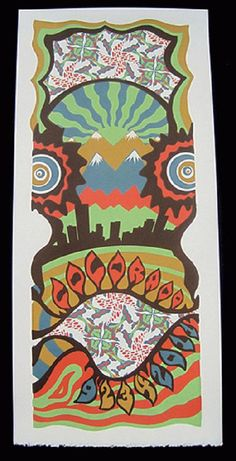 Original silkscreen concert poster night 3 of Phish at Dick's Sporting Good Complex in Commerce City, Colorado in 2011. 10 x 22 inches. It is printed on Watercolor Paper with Acrylic Inks. The poster is numbered out of 129.