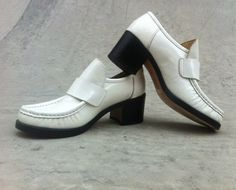 Heeled Patent Leather Disco Loafers  Womens by TheHodgePodgeShopSD, $65.00