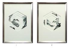 窗景山石系列 / 六角窗黑白 Chinese Painting, Chinese Art, Hanging Pictures, Art Pictures, Hanging Art, Asian Art, Collage Art, Art Decor, Paper Art