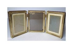 1960s Folding Brass Picture Frame Metal Glass Covered Holds Vintage Photo Frames, 1960s, Brass, Unique Jewelry, Handmade Gifts, Metal, Kid Craft Gifts, Craft Gifts, Sixties Fashion