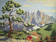 Vintage mid-century art. A series of old paint-by-number paintings. Fun.  From the Honestly WTF Blog
