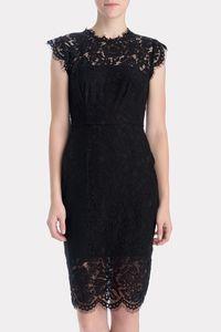 RACHEL ZOE Suzette Fitted Shift Dress in Black