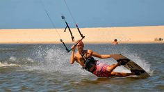 How to do the Darkslide - Kiteboarding, Kitesurfing An instructional with speech, text and slowmotion video...