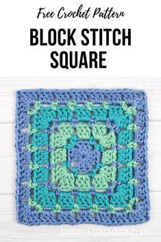Point Granny Au Crochet, Granny Square Pattern Free, Crochet Square Blanket, Crochet Squares Afghan, Crochet Blankets, Free Crochet Square, Granny Granny, Crochet Cushions, Crochet Pillow