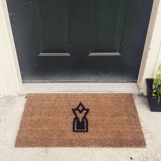 Wife and I made an Elder Scrolls/Skyrim welcome mat for the apartment : gaming