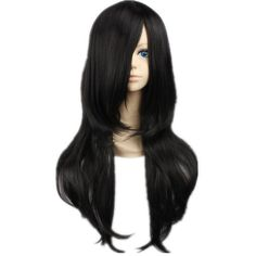 Cosplay Wigs Naruto Hyuuga Neji Long Straight Natural Black Halloween... ($12) ❤ liked on Polyvore featuring beauty products, haircare, hair styling tools, black hair care, black haircare and hair care