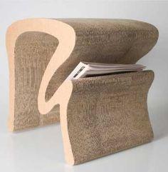 Dvalinn stool made from cardboard by Ásdís Jörundsdóttir. Icelandic design