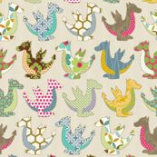 The colorful dragon by littlerhodydesign, Spoonflower digitally printed fabric