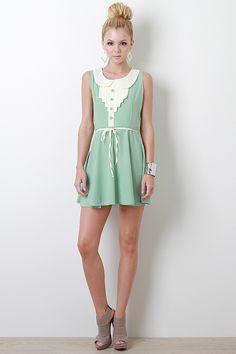 Vintage Elsie Dress in mint