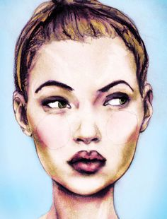 Igor + Andre: Portrait of Kate Moss at 17 years old #KateMoss