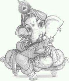 Images search results for ganesh drawing images from EMG Technologies. Ganesha Sketch, Ganesha Drawing, Ganesha Tattoo, Lord Ganesha Paintings, Lord Shiva Painting, Krishna Painting, Ganesha Art, Jai Ganesh, Tatoo