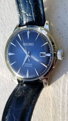 SEIKO PRESAGE COCKTAIL AUTOMATIC BLUE DIAL STAINLESS STEEL BRACELET SRPB41