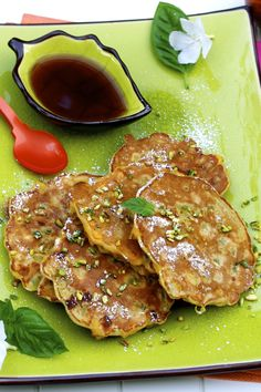 Apron and Sneakers - Cooking & Traveling in Italy and Beyond: Banana Pistachio Pancakes With Marsala Syrup