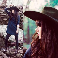 Dress, Hat, Acne Studios Boots