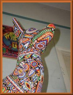 Huichol art dog