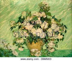 Roses by Vincent Van Gogh - Stock Photo