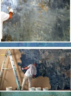 5th and state: Venetian Plaster Marmorino style
