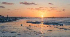 De punt om, wandeling op Vlieland, de zonsondergang