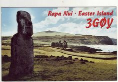Rapa Nui, Easter Island, QSL card