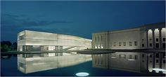 Steven Holl's Kansas City Museum project again. I love the interaction with the reflectivity of the water.