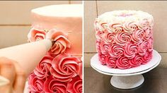CAKE TREND ~ Decorate an Ombré Rosette Cake - CAKE STYLE - YouTube