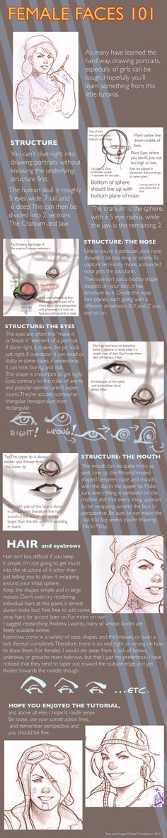 Female Face Portrait Drawing Tutorial by ~Phobos-Romulus on deviantART