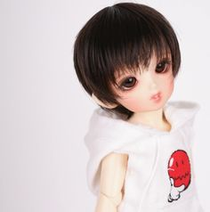1/6 BJD / SD doll wig high temperature wire wig black F5-6 - Taobao