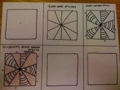 Oodles of Art: Optical Illusion Art, Art Lessons For Kids, Art Lessons Elementary, Art Sub Plans, Art Handouts, 5th Grade Art, Fourth Grade, Zentangle Patterns, Doodle Patterns, Zentangles