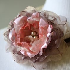 Light Pink and Champaign Halo Headband by HiButterfly on Etsy