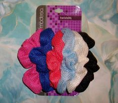 66f1f71c1f140 6 Pk Hair Band Scrunchies Ouchless Waffle Weave Shiny Shimmer Ponytail  Holder  fashion  clothing  shoes  accessories  womensaccessories   hairaccessories ...