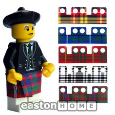 CUSTOM tartan kilt cape. Ideal for your Lego bagpiper minifig. Not a minifigure. in Toys & Games, Construction Toys & Kits, Other Construction Toys | eBay