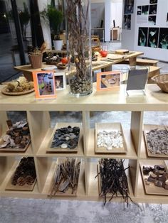 A Reggio inspired idea. Great way to organize natural materials