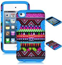 Bastex Hybrid Case for Apple Ipod Touch 4, 4th Generation - Sky Blue Silicone / Aztec Tribal Hard Bastex,http://www.amazon.com/dp/B00EYNK5U4/ref=cm_sw_r_pi_dp_l80Nsb0QKPSRS7Q3