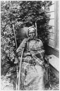 Nez Perce woman named Chica-ma-poo and known as Old Jean, the oldest member of Chief Joseph's band, Colville Indian Reservation, ca. 1901