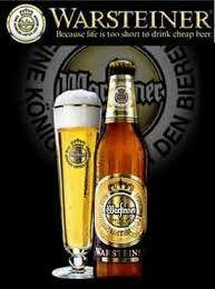 Warsteiner beer Germany