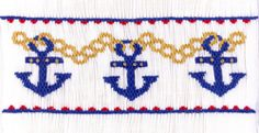 """Plate #310  """"Chains That Bind"""" what's better than anchors to celebrate the 4th of July."""