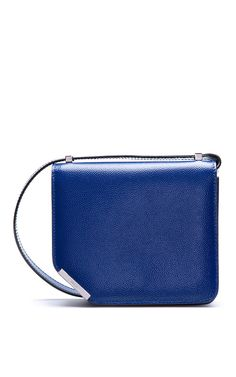 Small Cobalt Leather Shoulder Bag by Bally