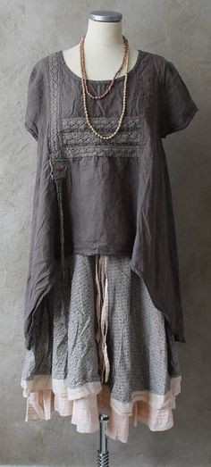 Mori Girl for any age. Altered Couture, Mode Style, Style Me, Mode Mori, Bohemian Style, Boho Chic, Beautiful Outfits, Cool Outfits, Moda Hippie