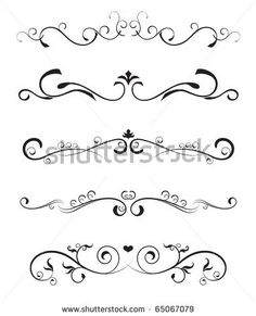 Floral Design Elements? Borders Ornate Stock Vector 65067079 ...