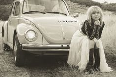 This would be an awesome picture in my wedding dress sitting on Roy's bug.