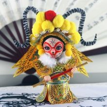 Traditional Chinese Culture Silk Figurine Monkey King - Sun Wukong Doll Yellow 2014